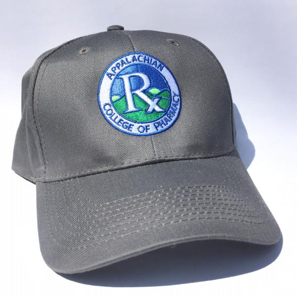 A close up of a grey hat