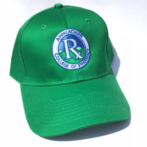 A close up of a kelly green hat