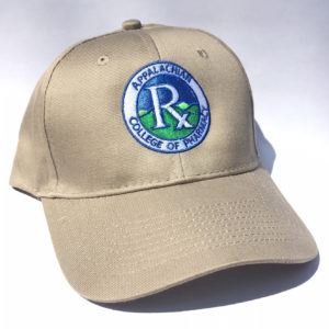 A close up of a khaki hat